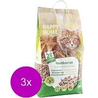 Happy Home Natural Wood - Kattenbakvulling - 3 x 20 l