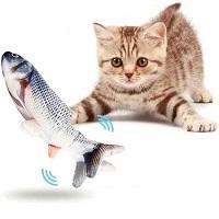 RealN Elektrische Speelvis inclusief catnip zakje