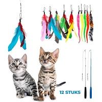2 Kattenhengels met 10 Speeltjes