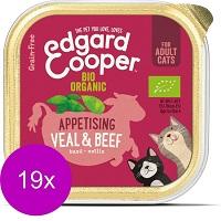 Edgard & Cooper Biorund & Biokalf Kuipje - Voor volwassen katten - Kattenvoer - 19 x 85g