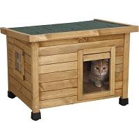 Rexa® Kattenhuisje van dennenhout 57x45x43cm