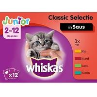 Whiskas Junior Kittenvoer Maaltijdzakjes