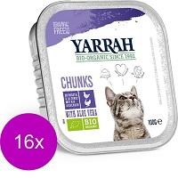 Yarrah Bio Kat Alu Brokjes In Saus - Kip & Kalkoen - Kattenvoer - 16 x