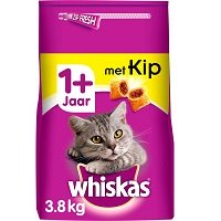 Whiskas Droog Adult Kip zak 3,8Kg